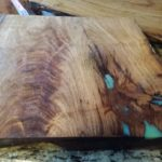 Mesquite Cutting Board with Turquiose